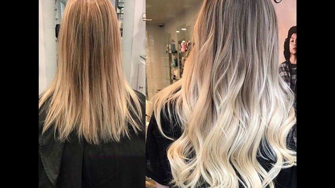 Ombre Tape In Hair Extensions Transformation Youtube