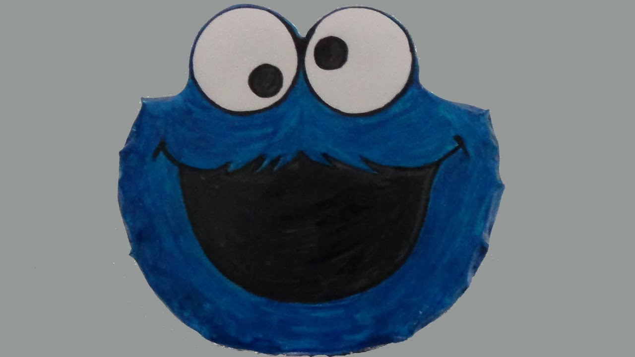 how to make decorate cookie monster cake using liquid food colorings