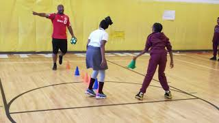 Soccer warm-up at P.S. 21