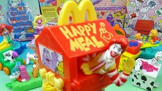 1994 Happy Birthday Happy Meal Train Set of 15 McDonalds Kids Meal Toys Video Review