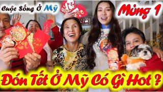 ❀//Vlog 71// Mùng 1 Tết-  Nhận Lì Xì Đầu Năm - Gia Đình Sum Họp Chúc Mừng Năm Mới Vạn Sự Như Ý