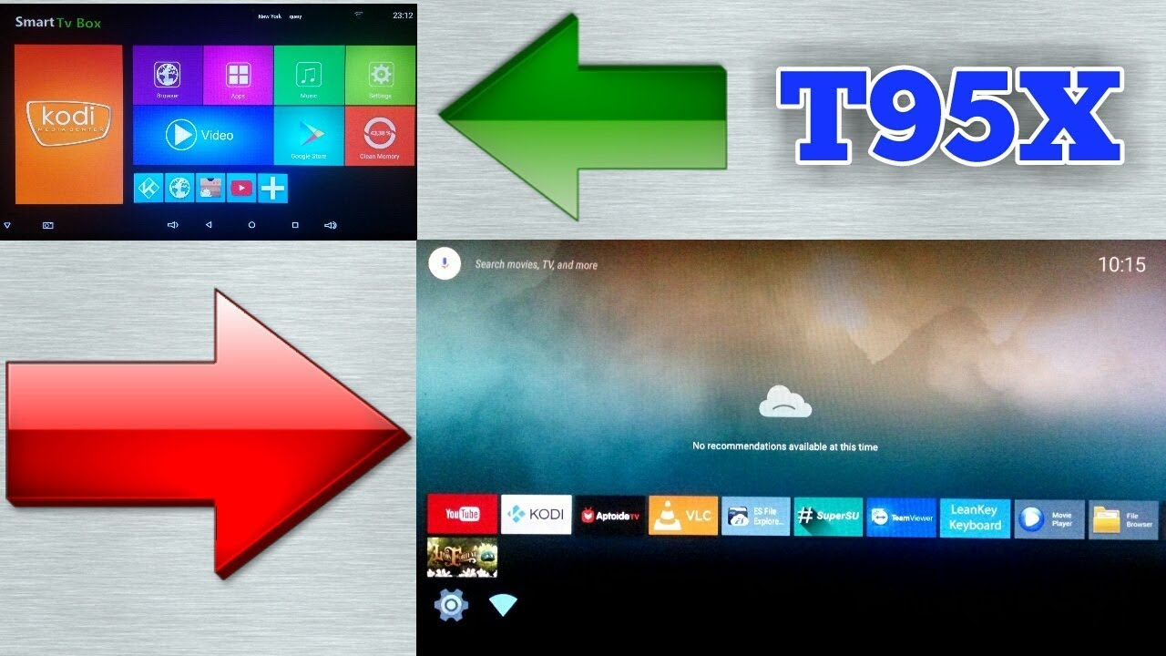 Leanback Launcher On Android TV Box T95X 2 GB | 16 GB Amlogic S905X