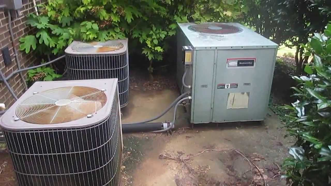 Old Carrier Weathermaker Hvac Unit And Two 1987 Lennox