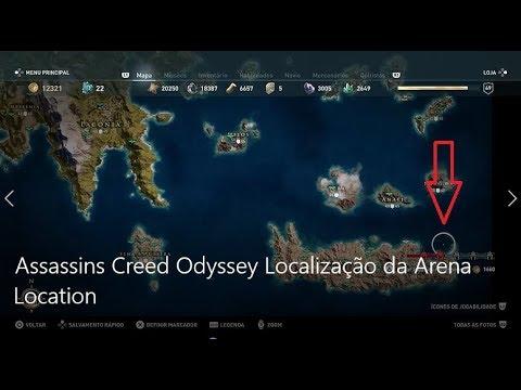 Assassins Creed Odyssey Localizacao Da Arena Location Youtube