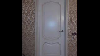 Белорусская дверь Вист Премьера белая патина(Краткий обзор внешнего вида белорусской двери фабрики Вист модель