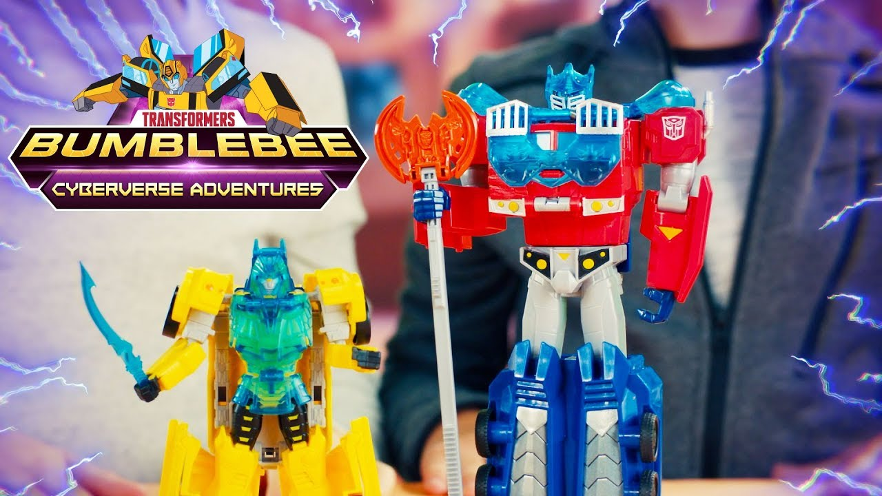 Bumblebee & Optimus Prime Toy Unboxing! - Transformers Bumblebee Cyberverse Adventures