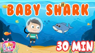 Baby Shark Song | 30 Minutes Non Stop | Nursery Rhymes for Kids | Kids Song | Bumcheek TV