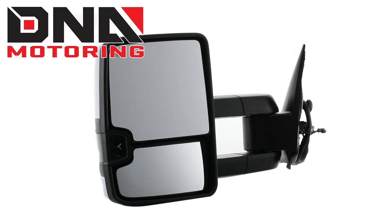 Driver and Passenger Sides DNA Motoring TWM-003-T999-CH-AM Pair of Towing Side Mirrors