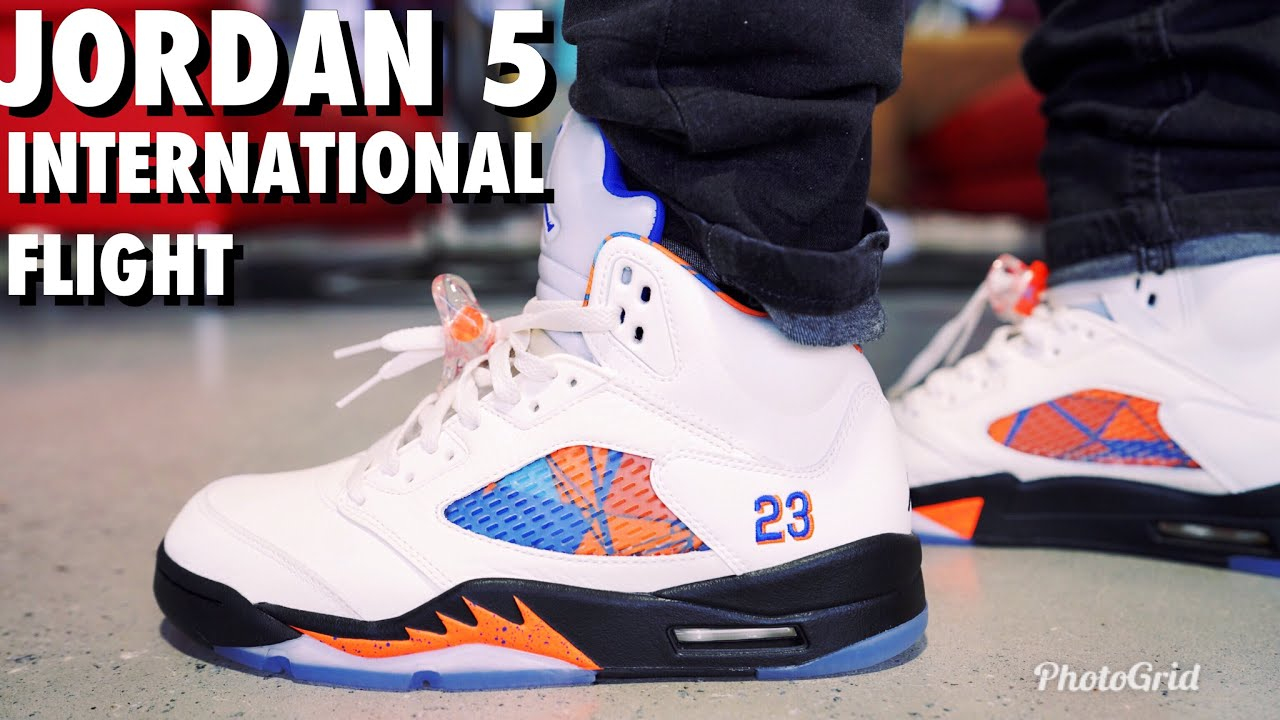4693b2e7c93ff JORDAN 5 INTERNATIONAL FLIGHT REVIEW AND ON FOOT !!! - YouTube