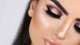 ---PURPLE HALO EYES & GLOSSY PEACH LIPS --- meuwsha