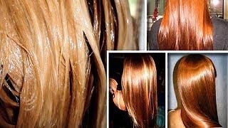 Супер Блеск! Домашнее Ламинирование Сделает Волосы Плотнее, Гуще, Напитает и Увлажнит их на 100%