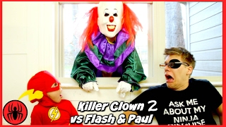 Scary Killer Clown Chases The Flash & Paul Part 2 Batman Real Life Movie Comics SuperHero Kids(, 2017-02-03T12:00:04.000Z)