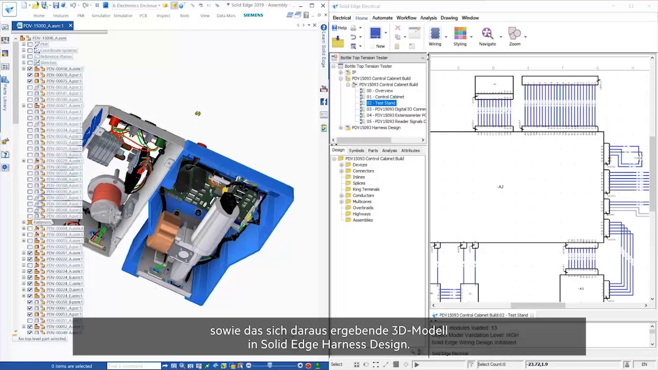 Solid Edge 2019: Wiring & Harness Design on