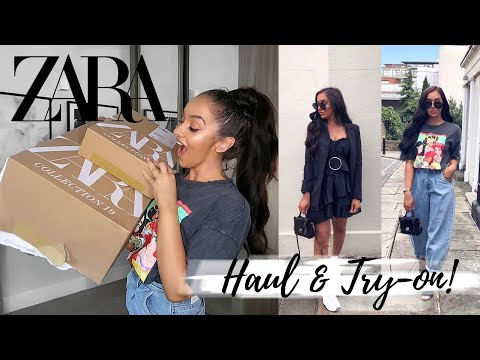 HUGE SUMMER ZARA HAUL + TRY ON! || AUGUST 2019
