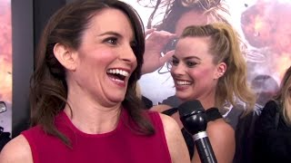 Tina Fey and Margot Robbie on the Red Carpet for WHISKEY TANGO FOXTROT
