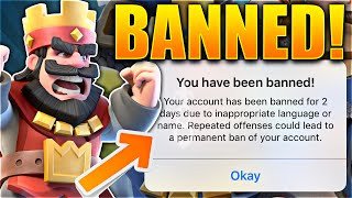 Clash Royale – STUPIDEST BAN EVER!! BANNED FOR NOTHING!? (Clash Royale Worst Way TO Get Banned)