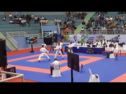 Kejuaraan Antar-Master ( Test Event Karate ) : GANGGA ( Kopassus ) & RIFKY A ( Jatim )