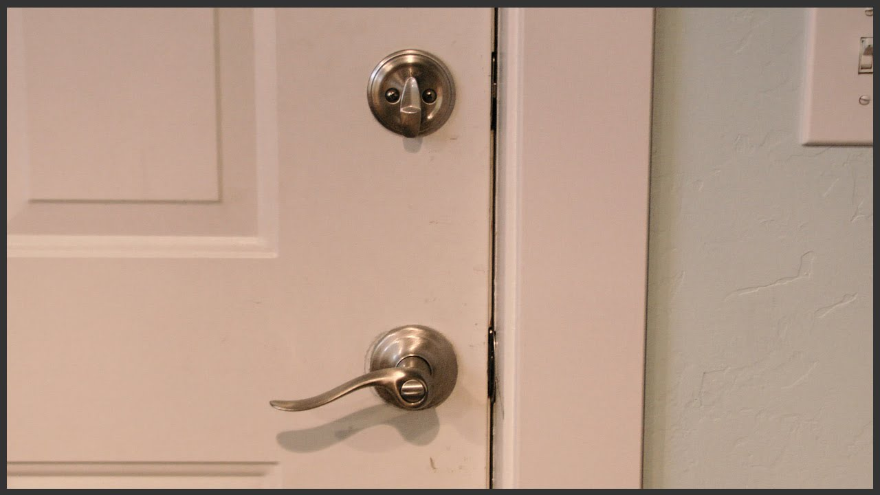 Installing Lever Handle Door Knobs With Deadbolts Youtube
