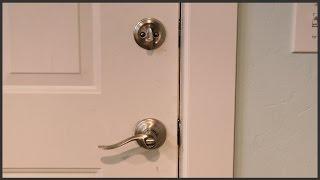 Installing Lever Handle Door Deadbolts