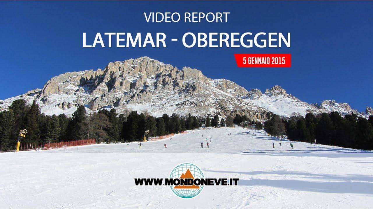 Latemar Obereggen - Report Neve Del 5 Gennaio 2015
