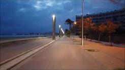 Fahrt über die Playa de Palma am 15.04.2020 in der Covid-19 Zeit
