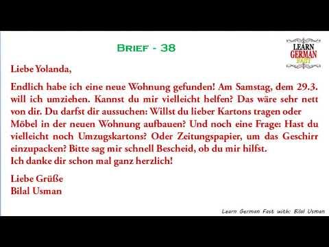 German Brief 38 A1 A2 B1 B2 C1 C2 Youtube
