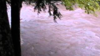Huntington River Flooding in wake of Irene