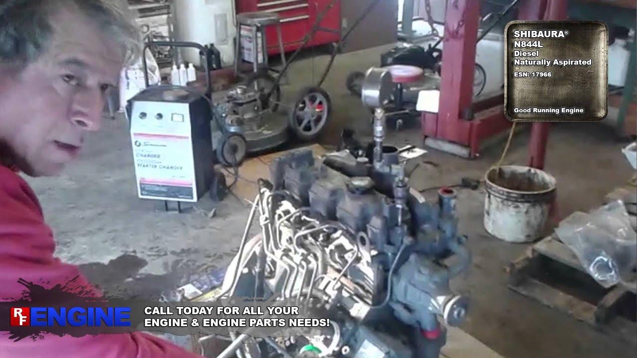 Gn Shibaura N844l Complete Running Engine