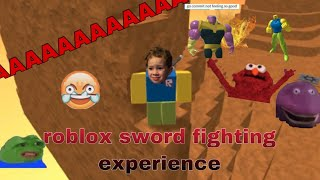 roblox sword fighting experience