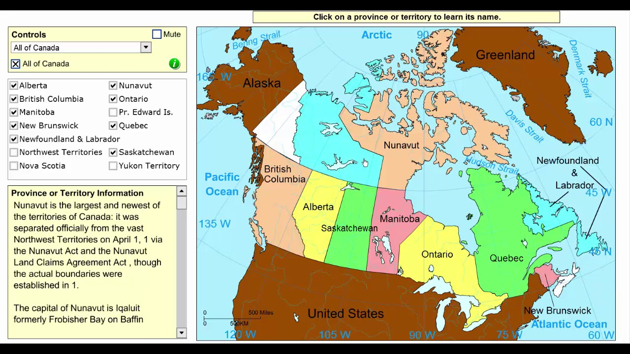 Learn the provinces and territories of Canada! - Geography Video