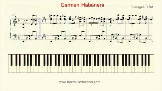 """Video How To Play Piano: Georges Bizet """"Carmen Habanera"""" Piano Tutorial by Ramin Yousefi download MP3, 3GP, MP4, WEBM, AVI, FLV September 2018"""