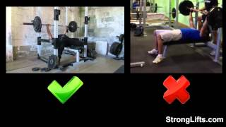 How To Bench Press With Proper Form (stronglifts 5x5)