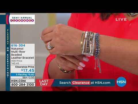 Nakamol MultiRow Beaded Leather Bracelet. http://bit.ly/2LaaMmy