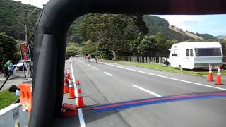 Kapiti Cycle Challenging - Chris crossing the finish line