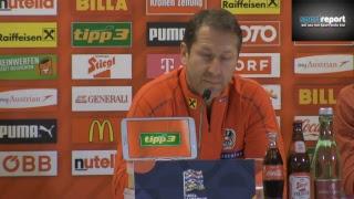 Pressekonferenz des ÖFB vor dem Nations League-Heimspiel gegen Nordirland