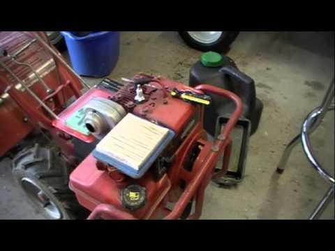 Troy-Bilt Pony Rototiller 5HP Briggs  Stratton - YouTube