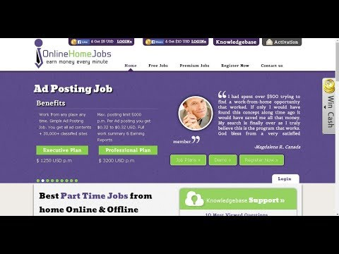 Online Home Jobs- Earning Money Every Seconds- Reviews