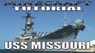 Minecraft Battleship Tutorial - USS Missouri (BB-63)