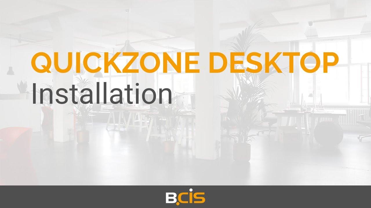 Download Quickzone Desktop for ELO - Installation Quickzone Desktop Server & Database Connector (1/9)
