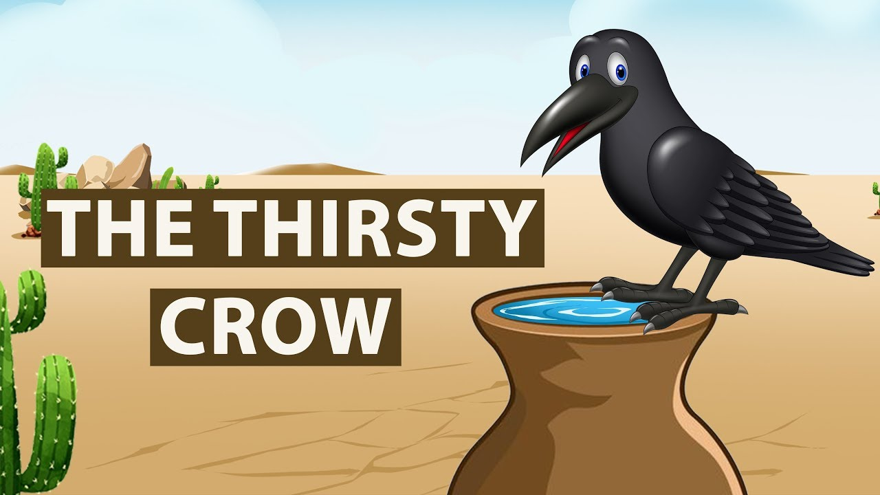 Thirsty Crow Story in English | Moral stories for Kids | Bedtime Stories for Children