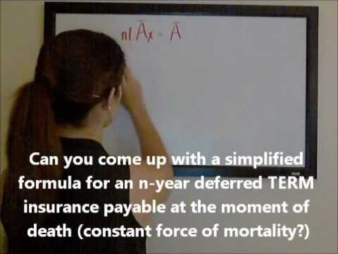 Continuous Insurances with Constant Forces of Mortality (Part One)