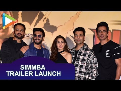 Simmba Official Trailer Launch | Ranveer Singh, Sara Ali Khan, Sonu Sood, Rohit Shetty | Part 1