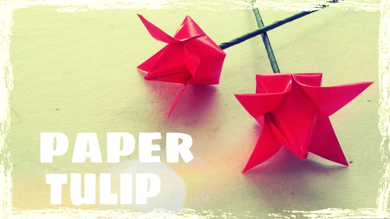Origami Tulip Instructions Origami Easy Youtube