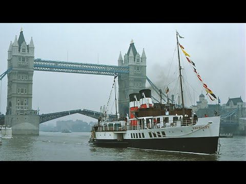 Paddle Steamer Waverley, Inaugural visit to the  River Thames April 1978