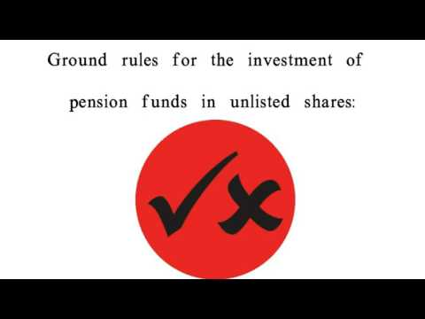 Can you invest pension funds in unlisted shares?