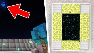 GO TO SPACE in Minecraft Pocket Edition (RETURN TO THE MOON)