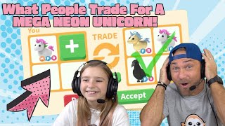 What People Trade For A MEGA NEON UNICORN! Roblox Adopt Me!