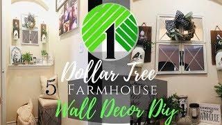 Dollar Tree DIY Farmhouse Mirror Wall Decor Under $10 | Burlap Wreath Tutorial