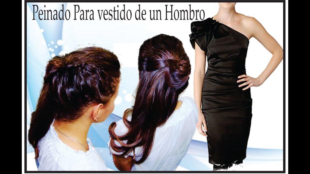 f54bf86c0 Peinado para vestido de un hombro - YouTube