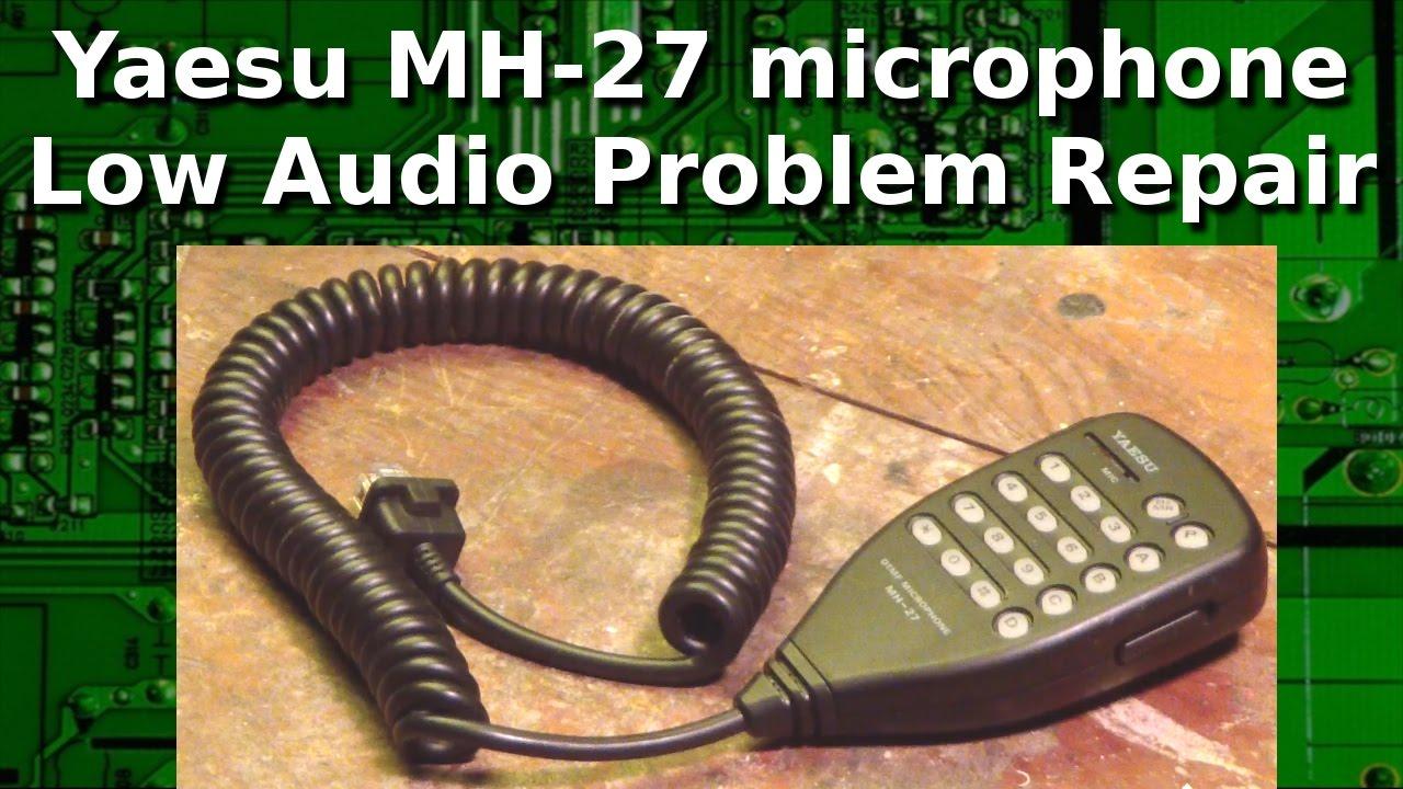 Ham Radio - Yaesu Mh 27 Microphone Low Audio Fix